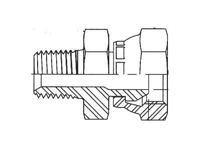 0107 - hydraulický adaptér přímý redukovaný