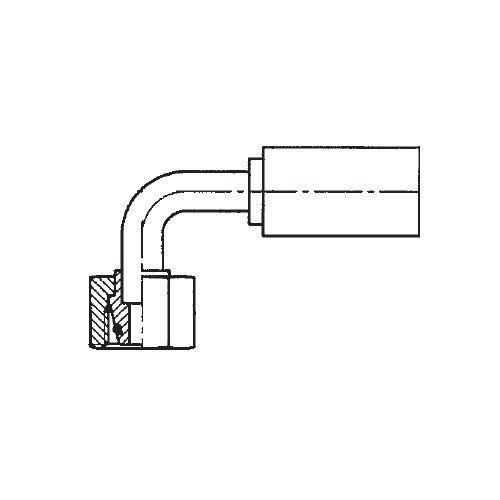 11CPX - POLYFLEX koncovka 90°úhlová s objímkou DKOS s maticí