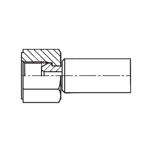 192NX - POLYFLEX koncovka přímá s objímkou DKR