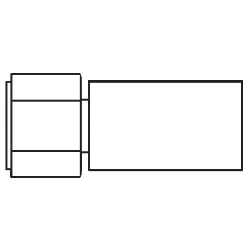 192PX - POLYFLEX koncovka přímá s objímkou DKR