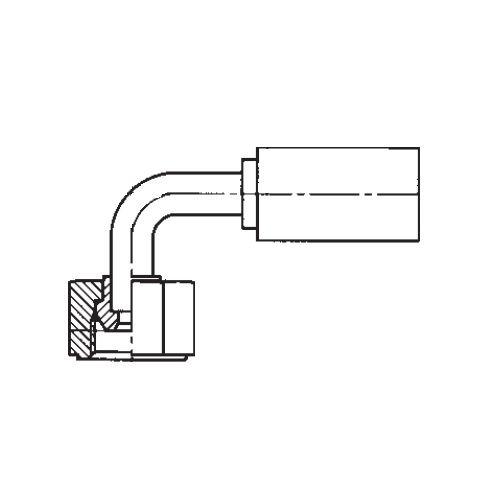 1B2PX - POLYFLEX koncovka 90°úhlová s objímkou DKR