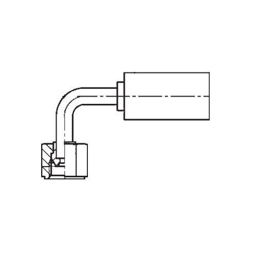 1B2YX - POLYFLEX koncovka 90°úhlová s objímkou DKR
