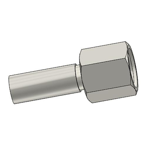 1C3PX - POLYFLEX koncovka přímá s objímkou DKOL