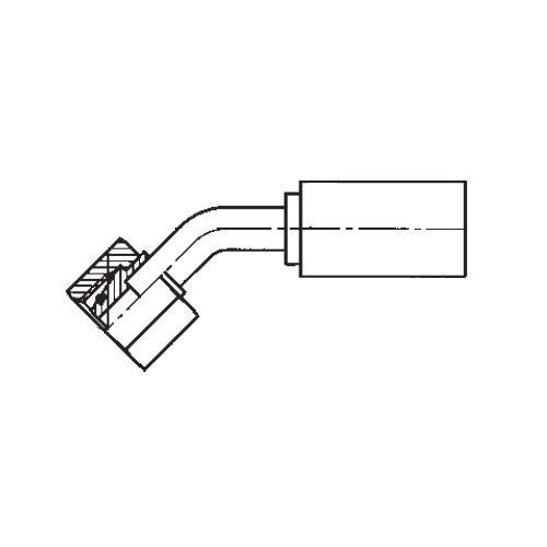 1CEPX - POLYFLEX koncovka 45°úhlová s objímkou DKOL