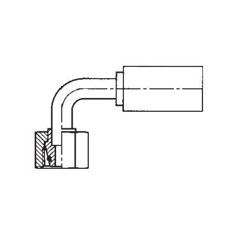 1CFPX - POLYFLEX koncovka 90°úhlová s objímkou DKOL