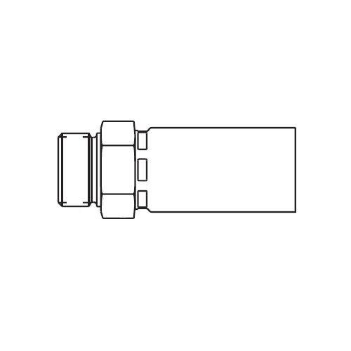 1D958 - POLYFLEX koncovka přímá s objímkou AGR