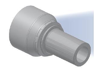 1D - koncovka BEL středotlaká s nátrubkem a s objímkou
