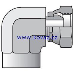 2207 - hydraulický 90°úhlový adaptér redukovaný