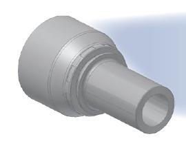 3D - koncovka BES středotlaká přímá s nátrubkem a s objímkou