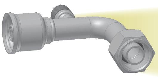 5LPT - koncovka nízkotlaká na trubku 90°úhlová s objímkou