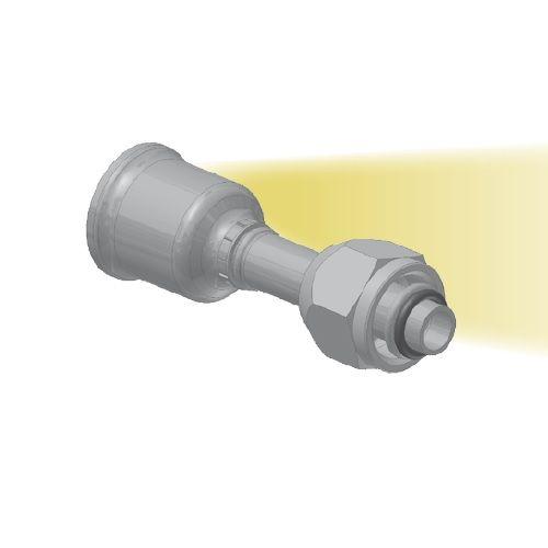 5S - koncovka nízkotlaká na trubku přímá s objímkou