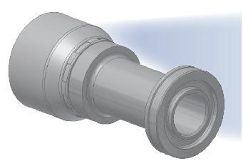6A - koncovka SFS středotlaká přímá s objímkou na přírubou