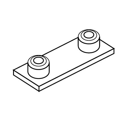 APC - přivařovací deska pro příchyty trubek série C