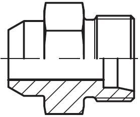 AS - hydraulický přímý adaptér příruby redukovaný na V-sváry