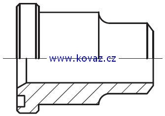 ASL - hydraulický přímý adaptér příruby redukovaný na V-sváry