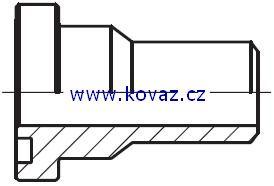 ASR - hydraulický přímý adaptér příruby redukovaný na V-sváry