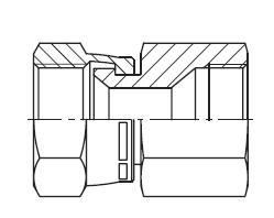 BBMTX - hydraulické hrdlo s otočnou maticí Triple-Lok® 37°