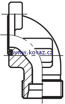 BFW - hydraulická 90°úhlová příruba zubového čerpadla