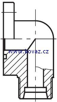 BFW-3 - příruba 90°úhlová zubového čerpadla (3otvory 90°)