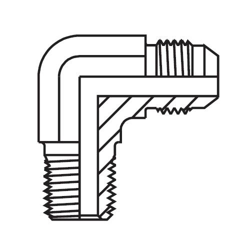 C3MX - hydraulická 90°úhlová spojka Triple-Lok® 37°