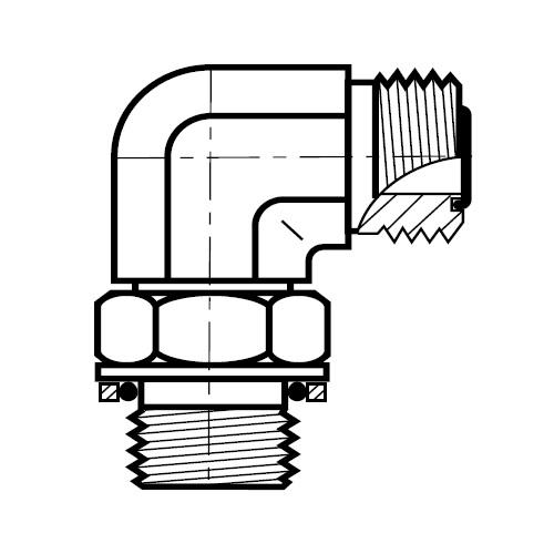 C4OMLO - hydraulická 90°úhlová spojka šroubení O-Lok