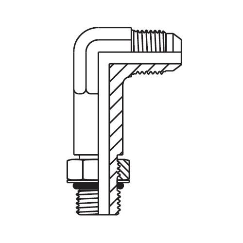 CC5OX - stavitelná dlouhá 90°úhlová spojka Triple-Lok® 37°