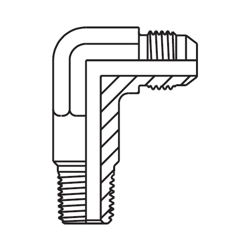 CCTX - hydraulická prodloužená 90°úhlová spojka Triple-Lok® 37°