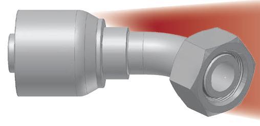 CE - koncovka DKOL vysokotlaká 45°úhlová s objímkou a s maticí