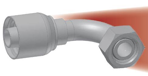 CF - koncovka DKOL vysokotlaká 90°úhlová s objímkou a s maticí