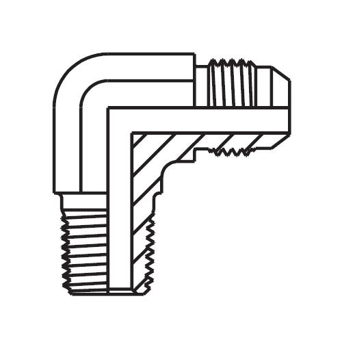 CMTX - hydraulická 90°úhlová spojka Triple-Lok® 37°