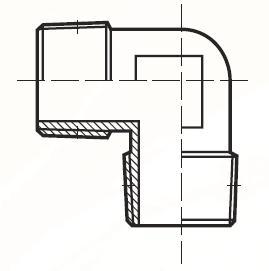 CR33BL - pneumatický 90°úhlový adaptér