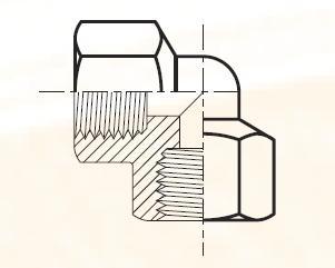 DD44 - pneumatická 90°úhlová spojka mosazná