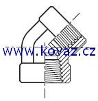 DD45 - hydraulický 45°úhlový adaptér