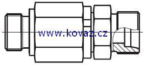 DG 102-R - hydraulické přímé rotační šroubení s ložiskem