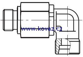 DG 104-M - hydraulické 90°ůhlové rotační šroubení s ložiskem