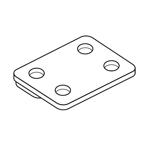 DPDC - krycí dvojitá šroubovací destička příchytek série C