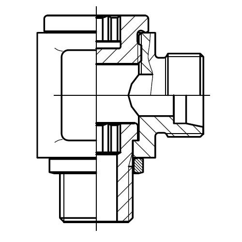 DSVW-M - nízkotlaká stavitelná 90°úhlová přípojka