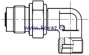 DVWE-M - rotační 90°ůhlové šroubení s kluzným ložiskem