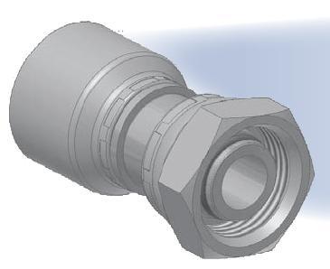 DX - koncovka středotlaká přímá s objímkou a s maticí