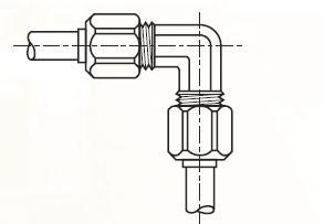 EBM - nástrčná 90°úhlová dvoudílná spojka mosazná Metrulok
