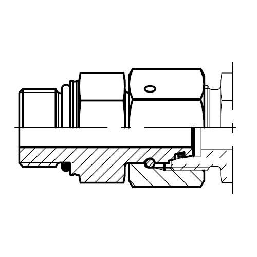 EGEO - Hydraulické přímé hrdlo s těsnícím kuželem EO 24° DKO