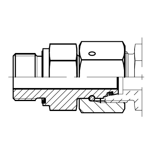 EGE-M-ED - hydraulické přímé hrdlo šroubení s těsnícím kuželem