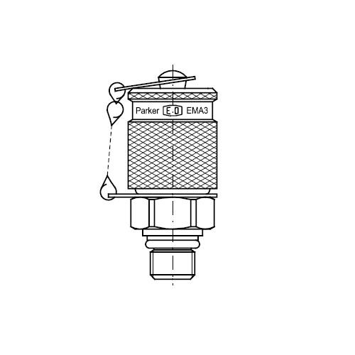 Hydraulické měřící body EMA3 připojení M16x2