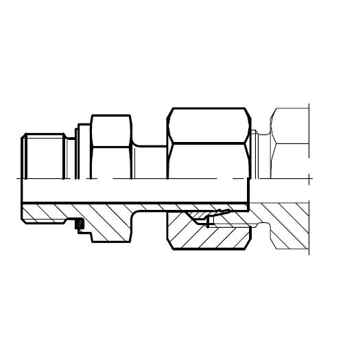 EVGE-M-ED - hydraulické přímé hrdlo šroubení s čepem EO