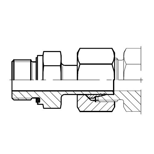 EVGE-R-ED - hydraulické přímé hrdlo šroubení s čepem EO