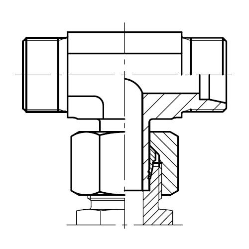 EVT - hydraulická spojka T šroubení s čepem EO