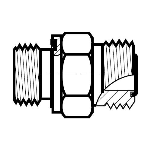 F42EDMLO - hydraulické hrdlo šroubení O-Lok