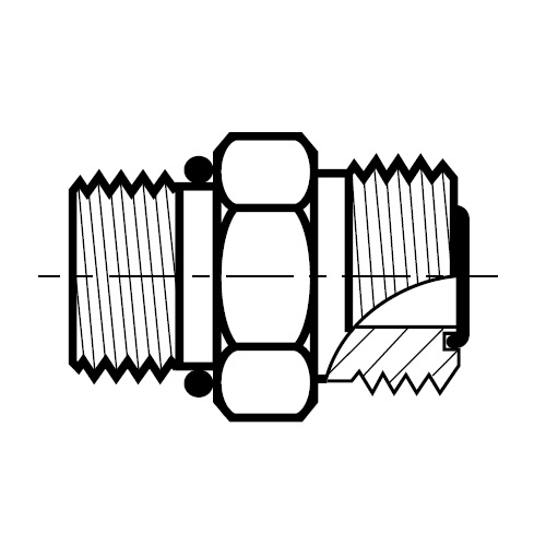 F5OMLO - hydraulické hrdlo šroubení O-Lok