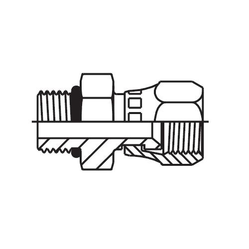 F65OMX - hydraulické hrdlo s otočnou maticí Triple-Lok® 37°