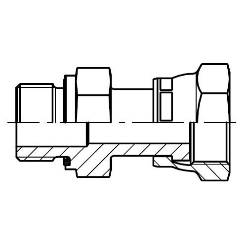 F682EDML - hydraulické dlouhé hrdlo s otočnou maticí O-Lok